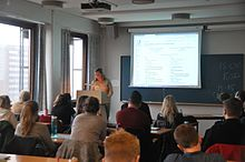 Wikipedia training at The University of Oslo.
