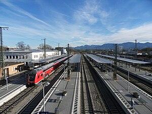 Rosenheim station - Railway tracks in 2010