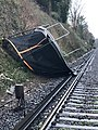 Trampoline blocking the railway line during heavy winds.jpg