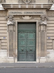 Tribunal correctionnel france wikip dia for Chambre correctionnelle paris