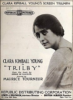 <i>Trilby</i> (1915 film) 1915 film by Clarence Brown, Maurice Tourneur