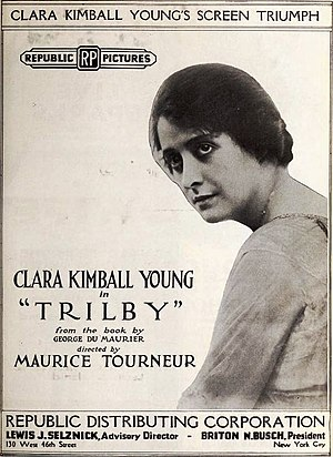 Trilby (1915 film) - Advertisement for 1920 reissue of film