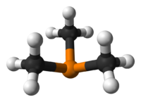 Ball and stick model of trimethylphosphine