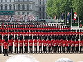 Trooping the Colour March on.JPG