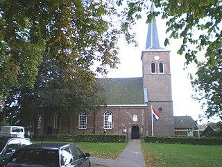 Akkrum Village in Friesland, Netherlands