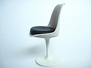 Vitra Design Museum - Eero Saarinen's Tulip Chair, one of the pieces represented in the permanent collection.