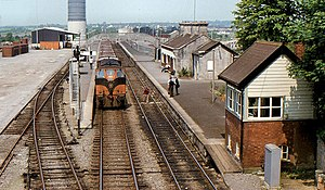Tullamore railway station - Tullamore station in 1982.