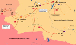 Turkish–Armenian War Conflict during the Turkish War of Independence