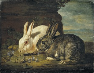 Two Rabbits, Detail from \