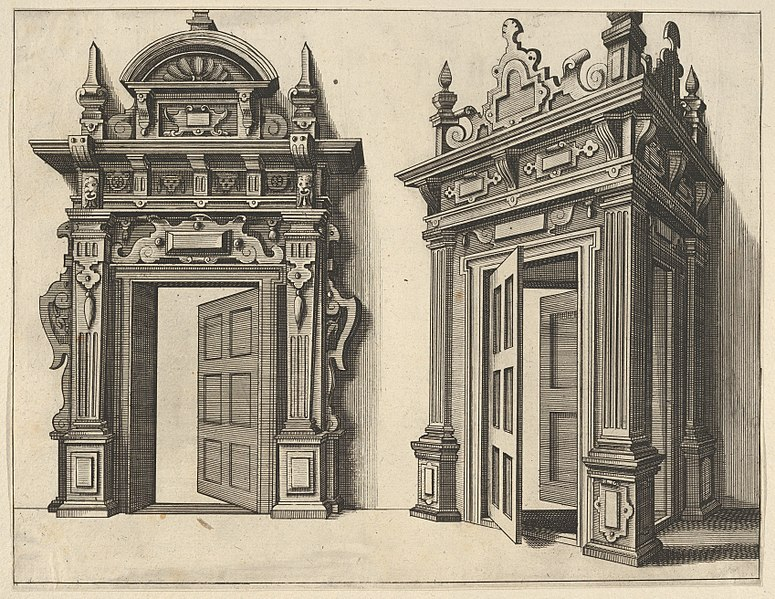 File:Two Wooden Portals from 'Verscheyden Schrynwerck (...)' -'Plusieurs Menuiseries (...)'- MET DP830821.jpg