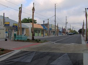 Tybrisa Street at Tybee Island, Georgia, in th...