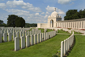 Tyne Cot -  Tyne Cot Commonwealth War Graves Cemetery on 5 August 2014.