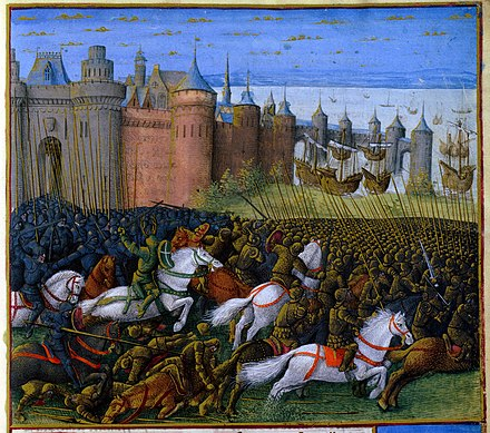 1187 siege, 1474 miniature painting by French artist Jean Colombe Tyre 1187.jpg