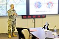 U.S. Army Maj. Gen. Robert E. Livingston Jr., the adjutant general for South Carolina, greets a group of Service members and media personnel at the Joint Operations Center in Columbia, S.C., May 6, 2013, during 130506-Z-WS267-004.jpg