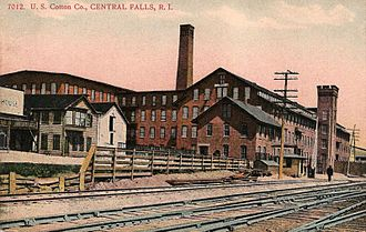 Central Falls, Rhode Island - U.S. Cotton Co. c. 1910