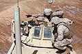 U.S. Marines with Immediate Response Team (IRT), Combat Logistics Regiment 2 conduct machine gun training at Camp Leatherneck in Helmand province, Afghanistan 130203-M-KS710-028.jpg