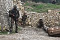 U.S. and French marines establish security during a simulated raid on a suspected enemy compound at Camp de Garrigues outside Nîmes, France, Feb. 13, 2014 140213-M-XI134-720.jpg