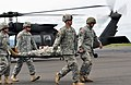 U.S. soldiers with the Oregon National Guard simulate the evacuation of a casualty at the Eugene Airport in Oregon May 2, 2012, during Vigilant Guard-Oregon 120502-A-NY487-470.jpg