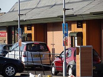 Drive-through - McDonald's drive-through windows in the UK.