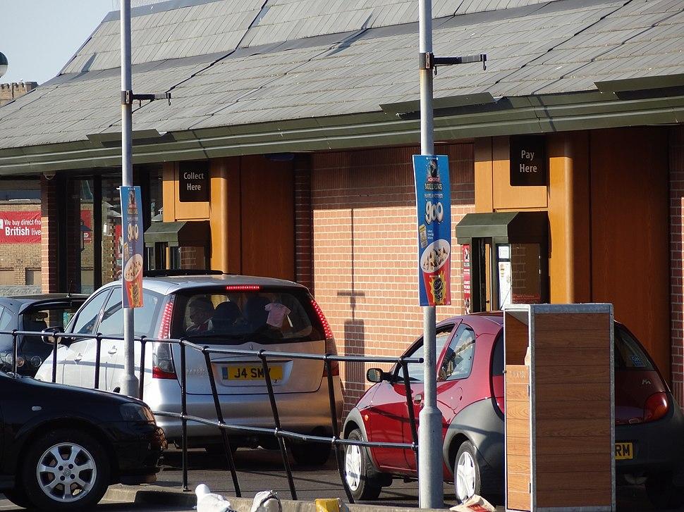 UK McDonald's drive-through windows