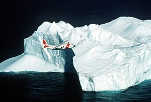 Missions of the United States Coast Guard - A Coast Guard C-130 on International Ice Patrol in the Arctic Ocean