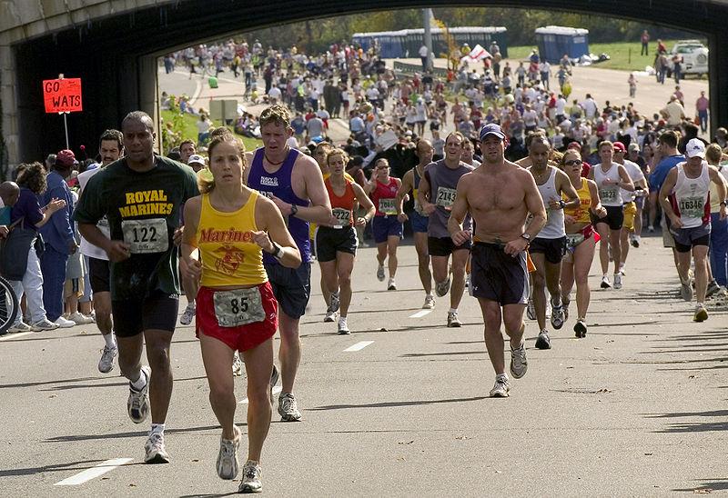 USMC Marathon runners