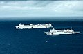 USNS Mercy (T-AH 19) and People's Liberation Army (Navy) hospital ship Peace Ark (T-AH 866) transit the Pacific Ocean during Rim of the Pacific (RIMPAC) Exercise 2014.jpg
