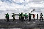 USS Dwight D. Eisenhower conducts flight operations. (32384468300).jpg