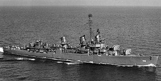 USS Evans (DD-552) - USS Evans (DD-552) in the Gulf of Mexico 1943