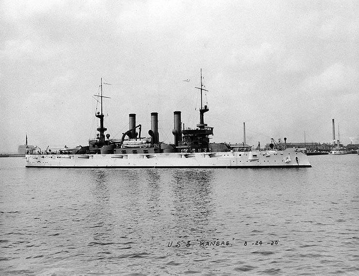 USS Kansas (BB-21) 1907