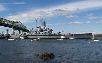 National Register of Historic Places listings in Bristol County, Massachusetts - Image: USS Massachusetts
