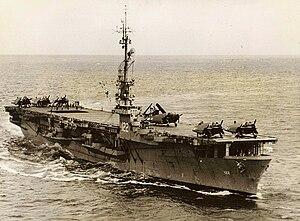 USS Palau - Image: USS Palau CVE 122 1950