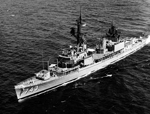 USS Southerland (DD-743) - Southerland underway in August 1967.