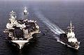 USS Theodore Roosevelt (CVN-71) underway with Alvaro de Bazan (F101) c2005.jpg