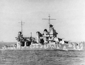 USS Vincennes (CA-44) - USS Vincennes en route to Guadalcanal.
