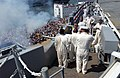 US Navy 030712-N-8148A-425 The U.S. Navy commissioned its newest Nimitz-class aircraft carrier USS Ronald Reagan (CVN 76) with a 21-gun salute during ceremonies held at Naval Station Norfolk.jpg