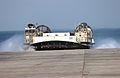 US Navy 040805-N-5471P-001 A Landing Craft Air Cushion (LCAC) arrives to on load U.S. Marines.jpg