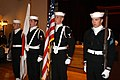 US Navy 050319-N-2385R-013 Sailors assigned to Naval Mobile Construction Battalion Four Zero (NMCB-40), Detachment Sasebo, present Colors during the Seabee Ball held at Harbor View Club on board U.S. Fleet Activities Sasebo, Ja.jpg