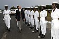 US Navy 060419-N-2568S-007 Secretary of the Navy (SECNAV), the Honorable Dr. Donald C. Winter inspects a group of Ghana Sailors during his visit to Sekondi Naval Base.jpg