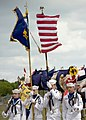 US Navy 091107-N-8689C-028 Members of the Melbourne Sea Cadet Color Guard retire the colors during the 2009 Veteran's Day Ceremony and Muster XXIV at the National Navy UDT-SEAL Museum in Fort Pierce, Fla.jpg