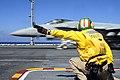 US Navy 100403-N-6006S-070 Lt. Edward Morelli launches an F-A-18 Super Hornet from the flight deck of the Nimitz-class aircraft carrier USS Carl Vinson (CVN 70).jpg