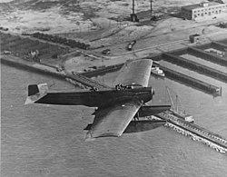 US Navy Fokker FT-1 in flight near NAS Norfolk in April 1923.jpg