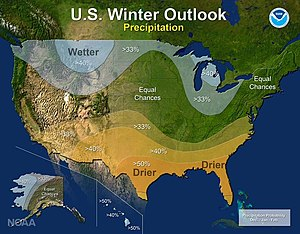 2016–17 North American winter - Precipitation Outlook