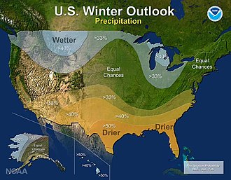 2016–17 North American winter - Precipitation Outlook