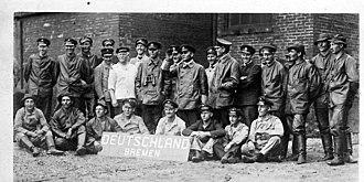 German submarine Deutschland - Crew of the Deutschland in Baltimore, 1916