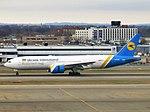 Ukraine International Airlines Boeing 777-2Q8(ER) UR-GOA landing at JFK Airport.jpg