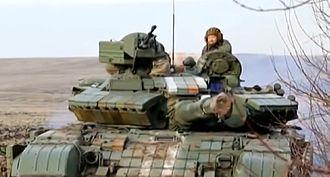 Battle of Debaltseve - Ukrainian T-64BV tank in the Debaltseve area