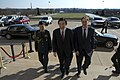 Under Secretary of Defense for Policy, Jim Miller, enters the Pentagon with Republic of Korea Foreign Minister, Yun Byung-se, April 3, 2013.jpg