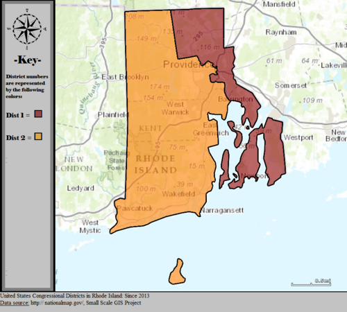 Rhode Islands Congressional Districts Wikipedia - Rhode island us map