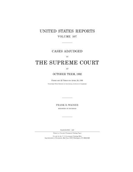 File:United States Reports, Volume 507.djvu